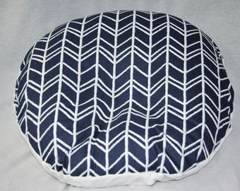Boppy Lounger Cover- Navy Herringbone With Minky Underside