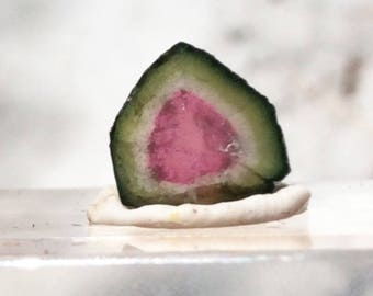 3.7 ct watermelon tourmaline slice from Kunar,Afghanistan E30