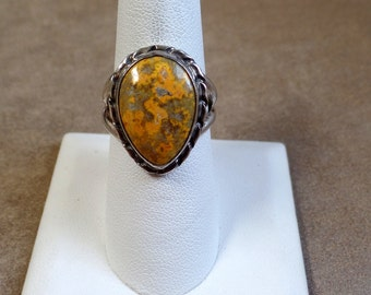 Earthy Mustard Jasper Ring 1102