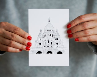 Parisian Monument Post Card / LE SACRÉ COEUR