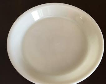 "Ivory Fire King 9"" Pie Plate"