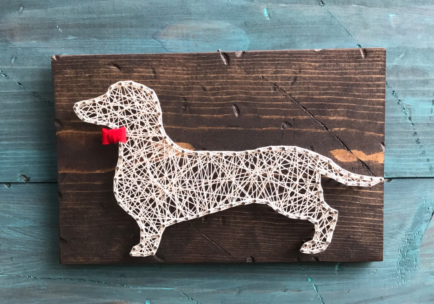 Dachshund Home Decor Pineapple String Art Wall Art String Art Rustic Home Decor