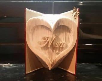 Mum Heart Book Fold