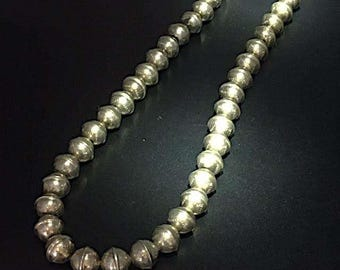 Silver Navajo Beads Necklace