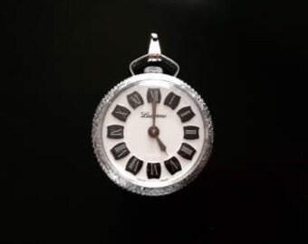 Beautiful Silver Tone Lucerne Watch Pendant