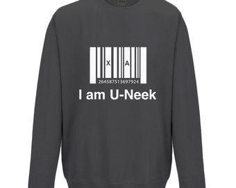 I am u-neek - kids sweatshirt - Inspirational Quote - Black - Unique