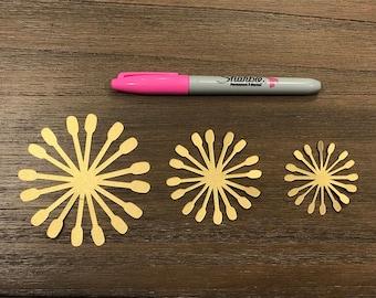 Paper Flower CENTER 1 (Set of 12. See details)