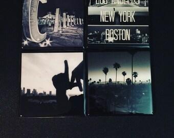 CA Coasters - Set of 4