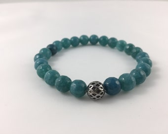 Mens Turquoise Jade Bracelet