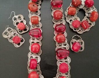 Custom, Handmade, Cantop, Beaded, Jewelry Set