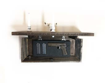 Concealment Shelf - Concelament Furniture - Concealed Gun Storage - Gun Concealment - Concealment Gun Storage - Floating Shelf