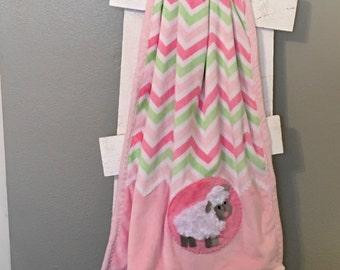 Lamb Minky Blanket