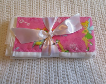 2 Pack Tinkerbell Pink Burp Cloth
