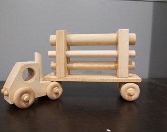 Wooden Truck and trailer,  Wooden log truck, Handmade wooden truck, Hard Maple handmade truck,