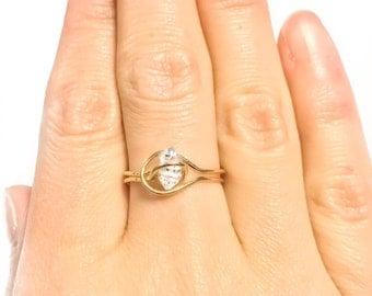 14k Gold Filled Herkimer Diamond Ring