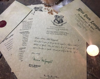 Wizard Acceptance Letter