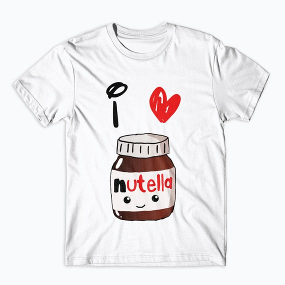 Nutella T-Shirt Love Nutella Onesie Kids Adults Shirts Funny