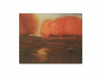 "Canvas Art Print 20""x16"" +3 other sizes -Autumn Glow- FREE Shipping"
