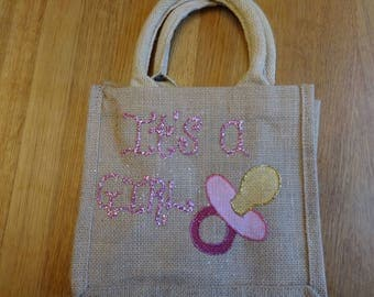 It's a Girl Jute Bag