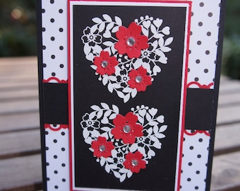 Blooming Hearts Valentine Card - Bloomin' Love Stampin Up Card
