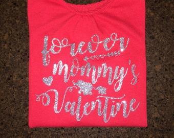 Toddler Girl Valentine's Day Shirt, Valentine's Day Outfit, Forever Mommy's Valentine Shirt, Valentine's Day Shirt, Valentine Shirt