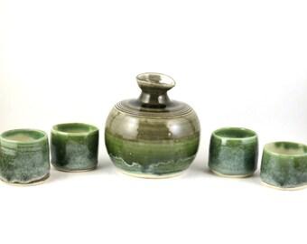 Jade Ocean Sake Set for Four