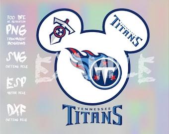 Mickey heads Sport logo football team Tennessee Titans ,clipart,SVG,PNG 300dpi ,ESP vector