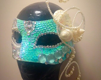 Mermaid masquerade mask