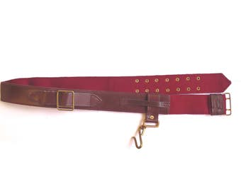 Ceremonial Sword Belt - Officers and Bandmasters of Infantry Regiments - Marron/Red in Colour - British Army - Genuine Issue - E146
