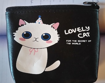 small wallet leather 'cat'