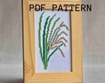 Cross stitch pattern - Rice plant