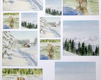 A4 - winter landscape - Netherlands collage sheet