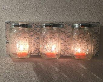 3 Mason Jar Lace Wall Hanging