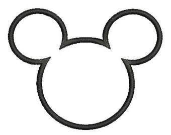 Mickey Mouse Applique Embroidery Design Mickey Head Applique Embroidery Design Mickey Ears Applique Design Instant Download ER620E