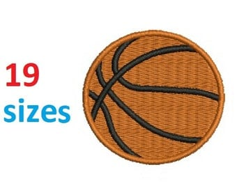 Basketball Embroidery Design Ball Embroidery Design Fill Design Machine Embroidery Instant Download ER715F