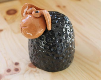 Ceramic black sheep