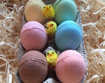 Easter Egg Bath bombs and free chicks!