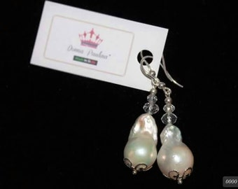 Silver 925 pearls pendants Sachin swaroski crystals with hook