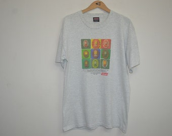 Vintage 90s Coleman Lanterns Spellout Outdoor t shirt Size L Large Camping Hiking Running Jogging Hip Hop Rap Rafting