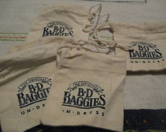 The Original B D Baggies UNdress  bags lot of 5 Free shipping