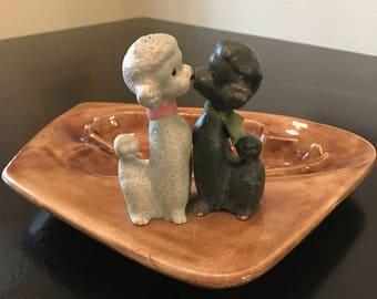 1950s Kissing Poodles Ashtray