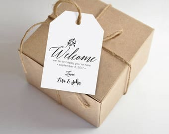 Wedding gift bag tags template mini bridal for Tags for gift bags template