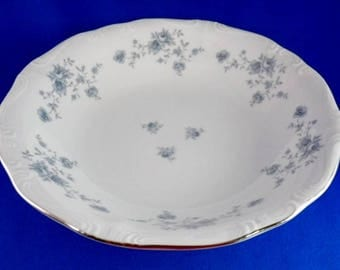 "Johann Haviland Bavaria ROUND VEGETABLE Bowl ""Blue Garland"" Traditions China 8.5"" Diameter"