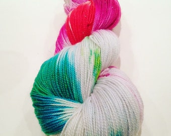 Candycane Forest Sparkle Sock Yarn