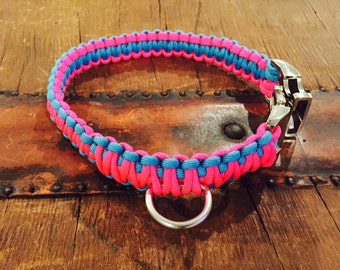 Paracord Collar with Contoured Aluminum Side Release Buckle