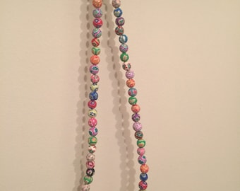 Hippy Beaded Necklace and Bracelet