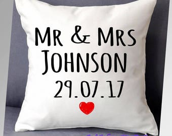 Mr & Mrs, wedding cushion,  cushion cover, wedding gift, anniversary gift, Mr Mr, Mrs Mrs,