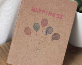 PROMO! Notebook lasting happiness vintage balloons 12.5 x 9 cm 80 pages eco-friendly office