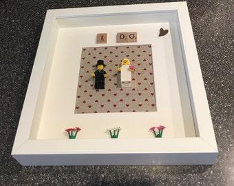 "Lego frame ""I Do"" Wedding Gift"