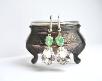 Bridal Crystal Earrings, Wedding Drop Earrings